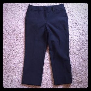 Straight crop black pants